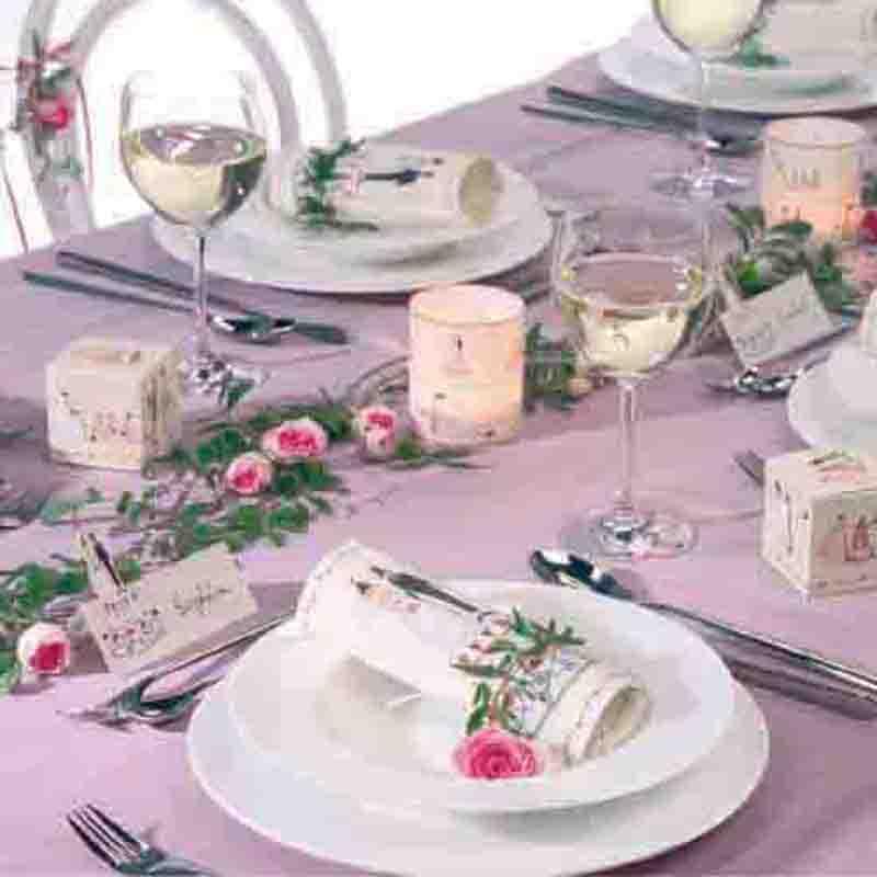 Silke Leffler 6x Tischkarte Gastgeschenke Hochzeit