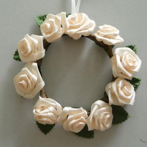 Kranz Binden Hochzeit Material : kerzenring kranz diorrosen rose hochzeit taufe tischdeko creme 11cm ebay ~ Heinz-duthel.com Haus und Dekorationen