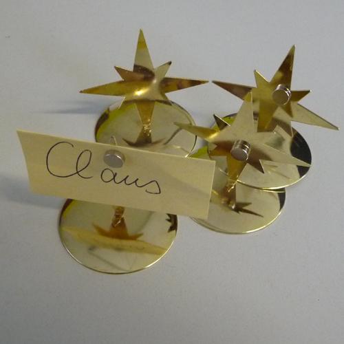 4 kartenhalter stern weihnachten platzkarten men karten. Black Bedroom Furniture Sets. Home Design Ideas