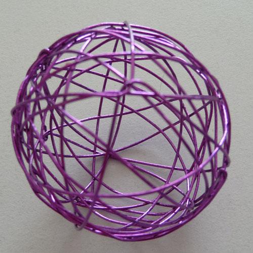 Dekolust 4 deko drahtkugel dekokugel drahtball lila 40mm - Drahtkugel deko ...