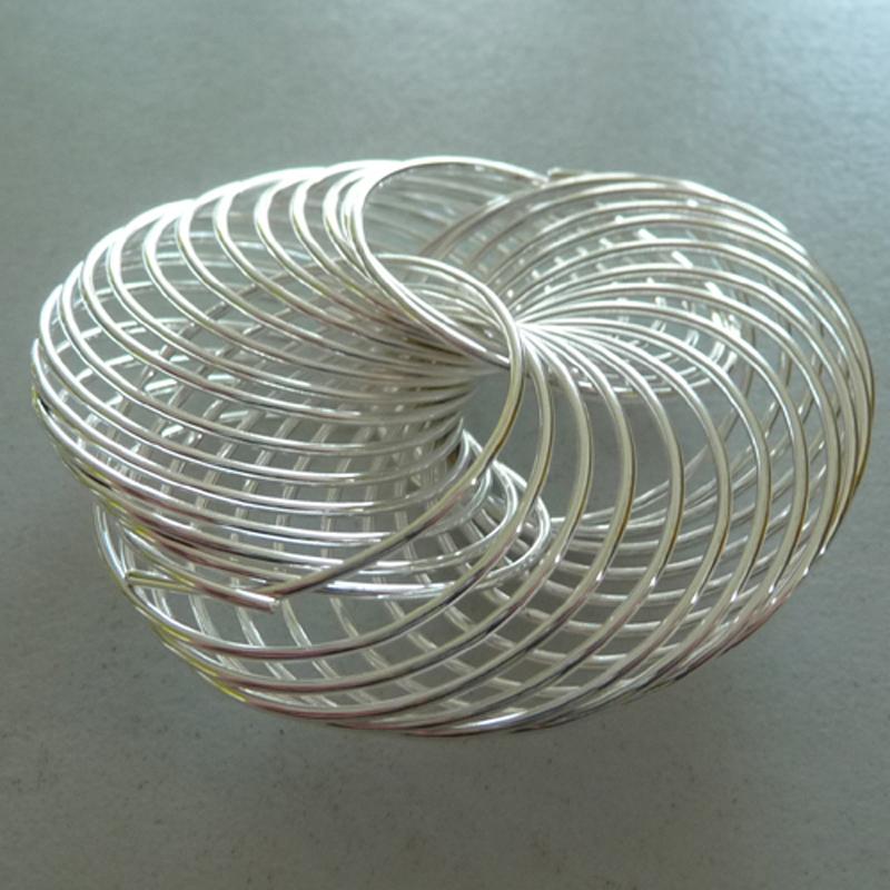 12x Deko Drahtrad Drahträder Tischdeko Hochzeit Taufe Blumendeko 2,5cm silber
