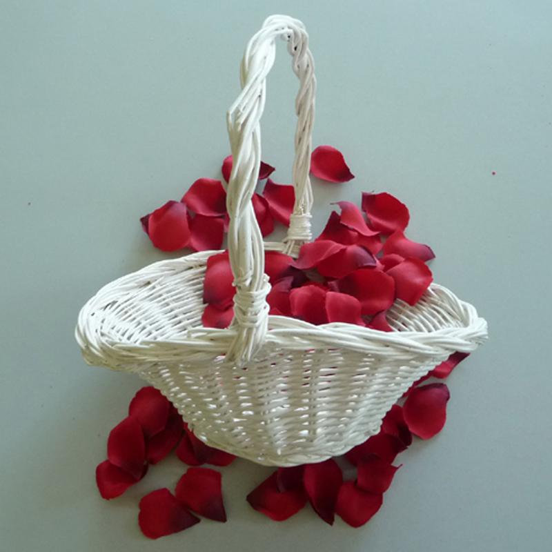 Streuk/örbchen Wei/ß Oval Blumenk/örbchen Hochzeit Korb f/ür Blumenkinder Blumenkorb Streukorb F/ür Rosenbl/ätter